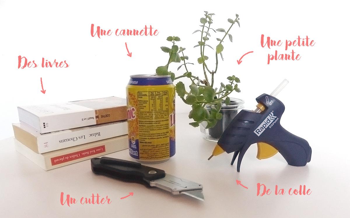 ingrédients fabriquer cache-pot livres