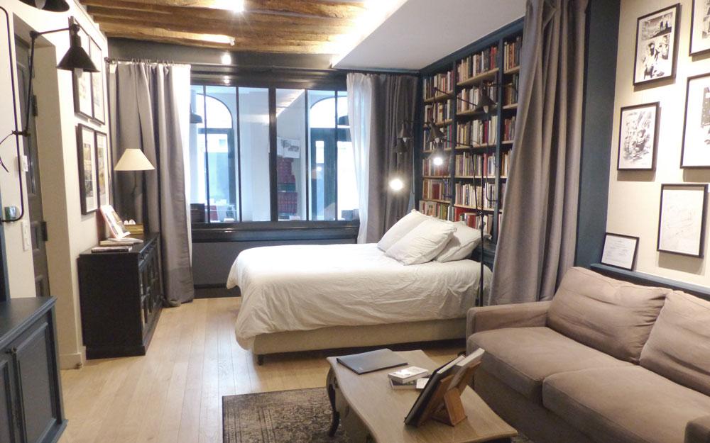 Paris Boutik - Chambre librairie hotel livres