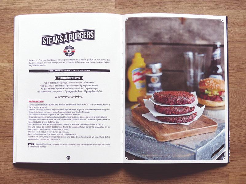 Livre boucherie vegan - steaks burgers
